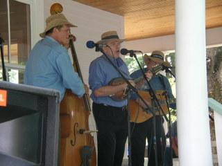 Bluegrass player at house