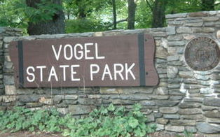 Vogel State Park Entrance Sign