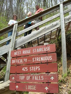 Amicalola Fall Stairs Sign