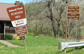 Cooper Creek Recreation Signs