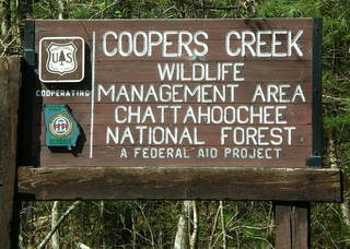 Cooper Creek Management Sign
