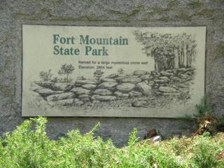 Fort Mountain Park entrance sign