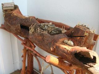 Log at Blue Ridge Arts Museum