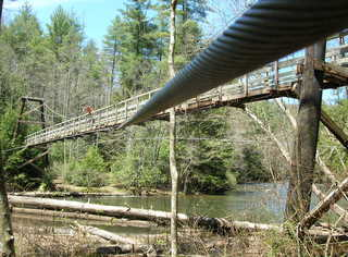 Swinging Bridge Cable View